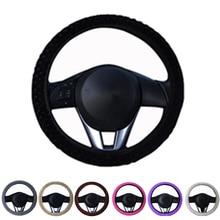 Auto Interior Accessories Car DIY Winter Steering Wheel Cover Anti-Slip Plush Sport Type car steering wheel covers
