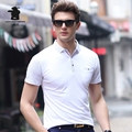 2017 New men's Short Sleeve Polo Shirts Summer Fashion Printing Plus Size Business Casual Polo Shirts Men M~3XL C15D8109