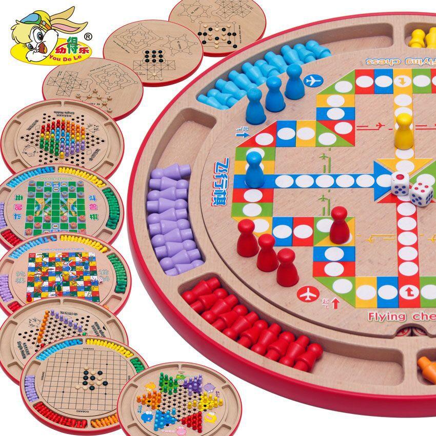 Checkers Vol Échiquier Jeu Gobang Animaux Checker Enfants Jouets Éducatifs