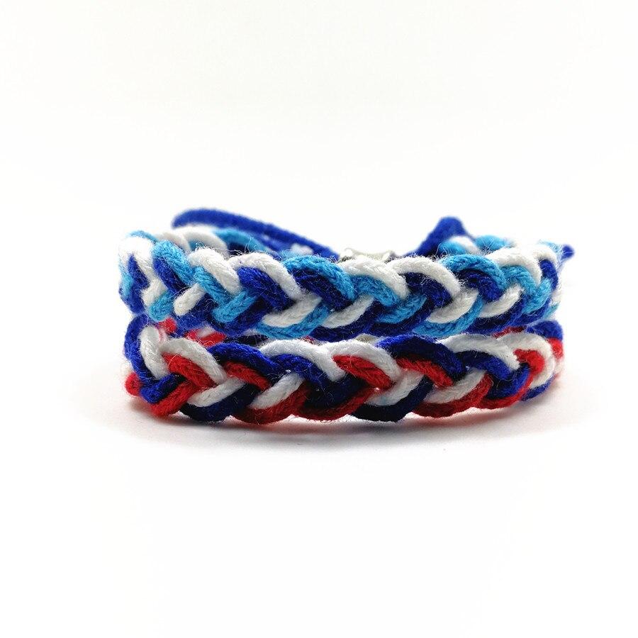 cordón de algodón étnico trenzado pelado estudiante pulseras - Bisutería - foto 1