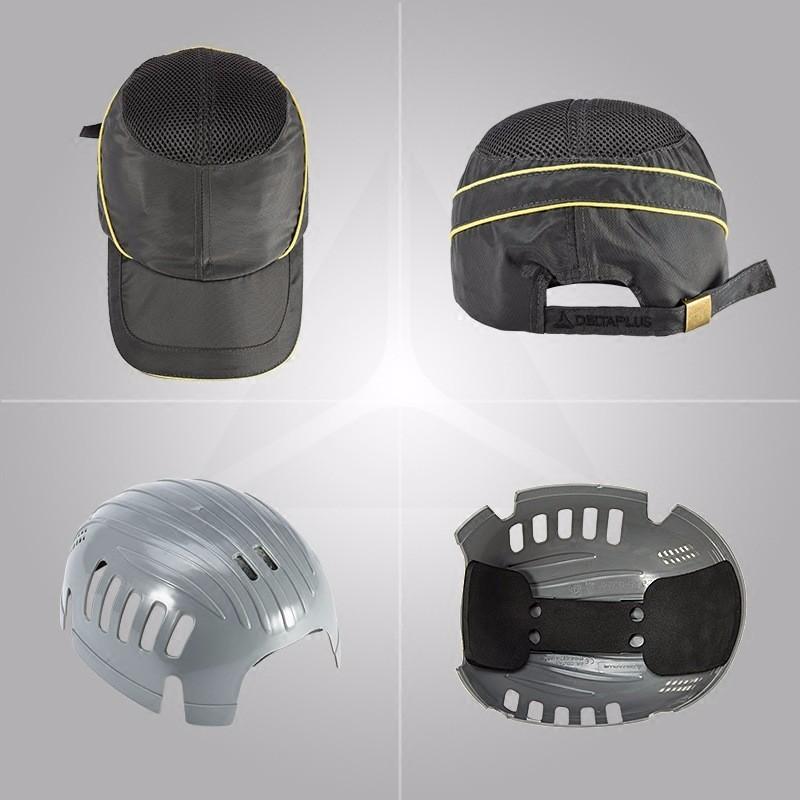 Delta Plus 102010 Coltan Safety Helmet Baseball Cap Hard Hat