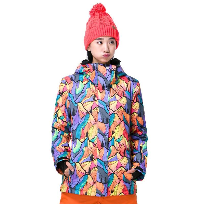 GSOU SNOW Brand Women's Ski Suit Winter Outdoor windproof Waterproof Ski Jacket Warm Wear resisting Cotton Clothes - 4