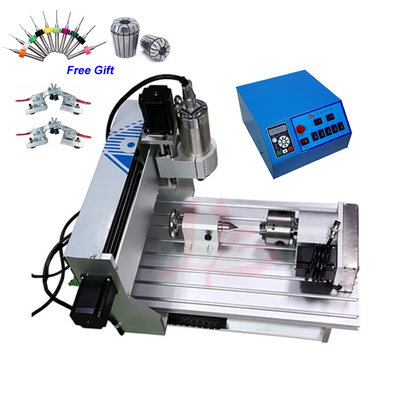 2.2KW Spindle Motor CNC Router Engraver 6040 4 Axis Metal Cutting Milling Machine