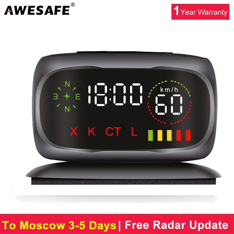 awesafe car anti radar detector center console mini radar detector with gps for russia x k ct l. Black Bedroom Furniture Sets. Home Design Ideas