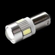 Ampoule latérale de feu de stationnement automatique, BA9S T11 363 T4W 6 SMD 5630 5730, ampoule blanche rouge bleue jaune verte DC 12V, 1 pièces