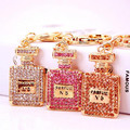 Crystal keyring Charm Perfume Bottle Keychain Car Key chain HandBag Pendant Accessories Party Gift