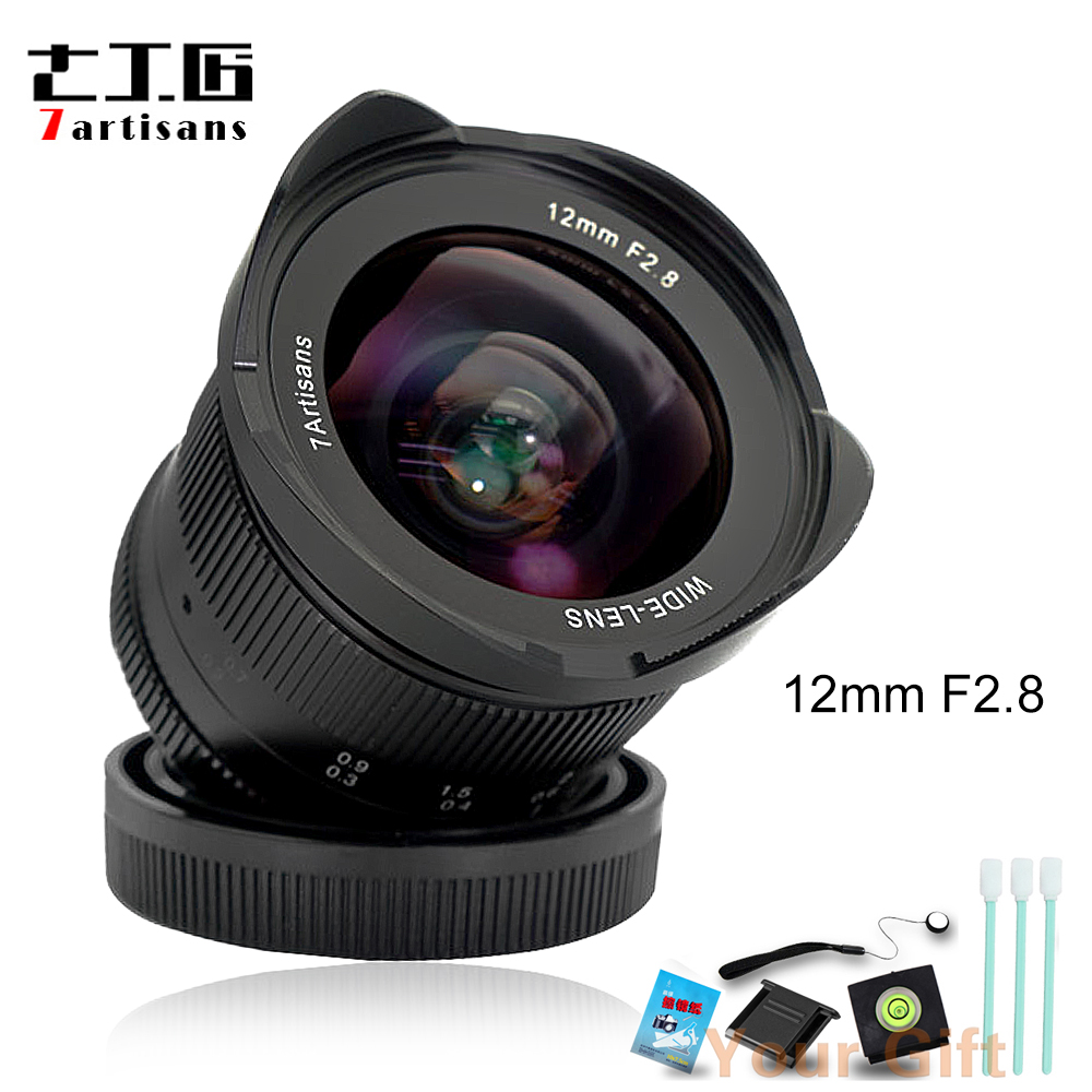 7artisans 12mm F2.8 Ultra Wide Angle Lens for Sony E-mount EOSM FX M4/3 APS-C Mirrorless Cameras Manual Focus Prime Fixed Lens meike 12mm f 2 8 wide angle fixed lens with removeable hood for panasonic olympus mirrorless camera mft m4 3 mount with aps c