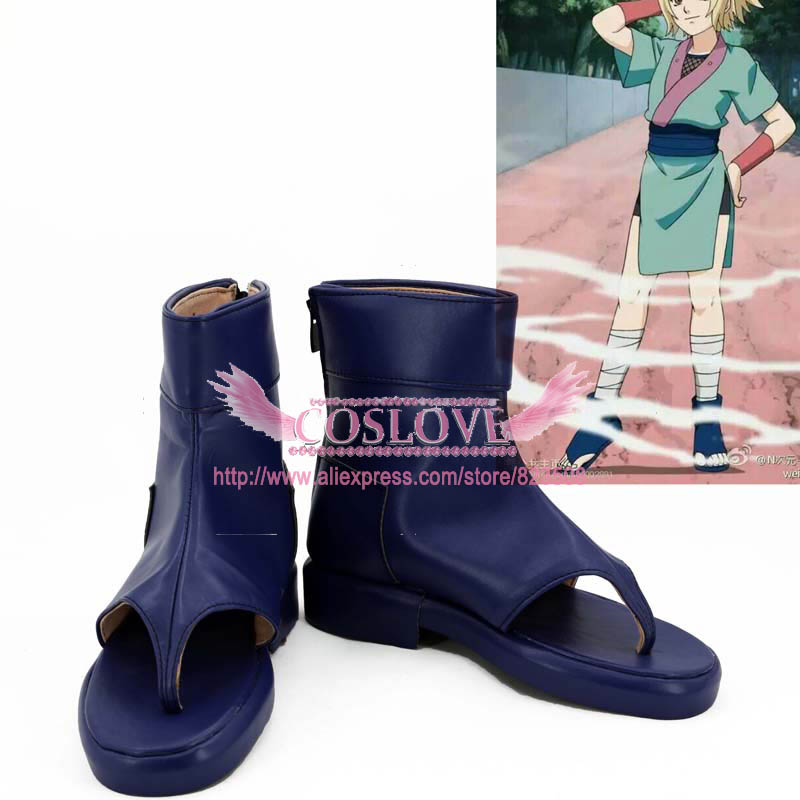 Naruto Tsunade Young Stage Blue Shoes Cosplay Boots CosplayLove For Halloween Christmas Party