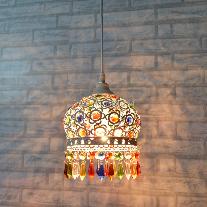 18CM  Mediterranean Style LED Droplight  Metal High Quality Colours K9 crystal  Pendant lamp Cafe Bar Coffee Shop Store Club18CM  Mediterranean Style LED Droplight  Metal High Quality Colours K9 crystal  Pendant lamp Cafe Bar Coffee Shop Store Club