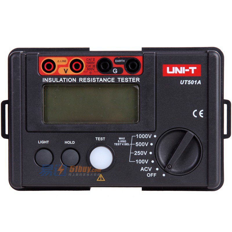 UNI-T UT501A Insulation Resistance tester meter megger earth ground Voltage benetech gm3125 energy saving portable 12v 1 4ma voltage overload insulation resistance tester