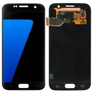 Image 3 - 원래 g930f lcd 삼성 갤럭시 s7 lcd 화면 프레임 터치 스크린 디스플레이 SM G930F lcd 디스플레이 화상 그림자