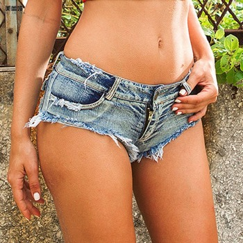 Hot sexy shorts jeans mulheres verão ripped denim mini shorts marca Feminina skinny slim calças curtas hotpants shorts cintura baixa C3