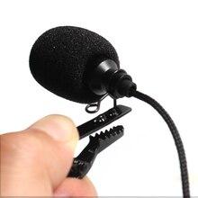 Omnidirectional Microphone Audio-Mic Jack-Lavalier Metal for Game-Speech Tie-Clip Plastic