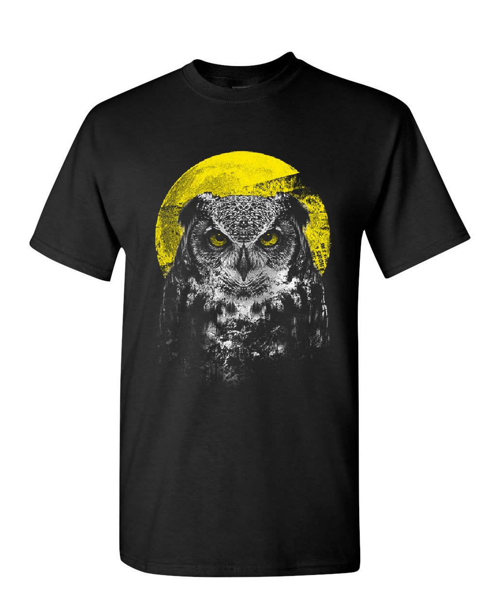 Night Owl <font><b>T</b></font>-<font><b>Shirt</b></font> Bird Nature Wildlife <font><b>Wilderness</b></font> Wisdom Moon Mens Tee <font><b>Shirt</b></font> Cartoon <font><b>t</b></font> <font><b>shirt</b></font> men Unisex New Fashion tshirt image