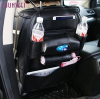 New Arrival Car SUV Back Seat Tidy Organiser Multi Pocket Leather Holder Pouch Storage Bag Universal