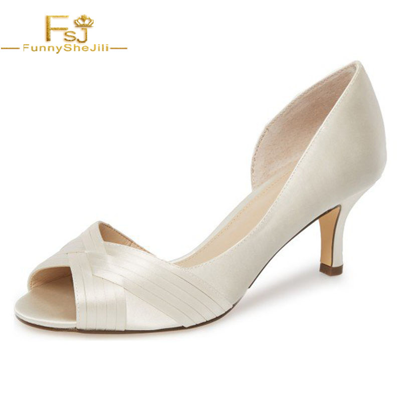 2ea6e3ad8a53 Buy kitten heel white and get free shipping on AliExpress.com
