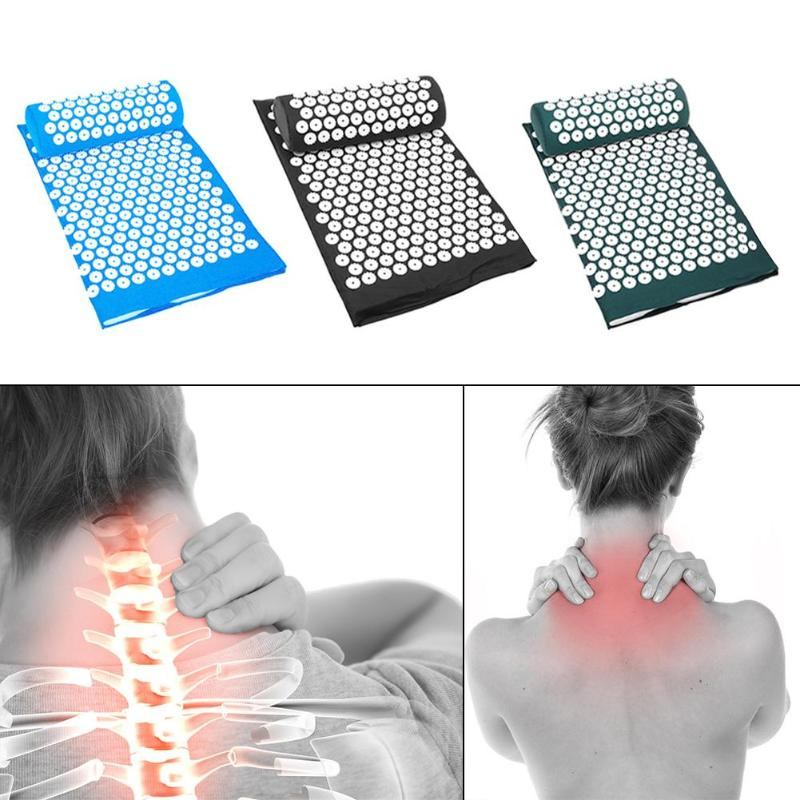 NEW Acupuncture Massage Pillow Cushion Massage Relieve Stress Pain Yoga Mat Acupressure Pillow Cushion Face Lift Tools