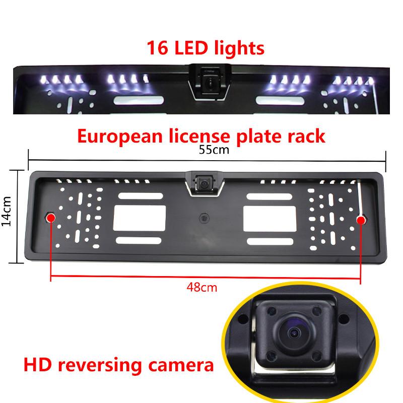 OL Europäischen Auto HD 16 LED Nachtsicht Kennzeichen Rahmen ...