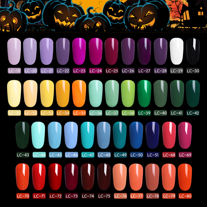 LILYCUTE 8ml Halloween UV Gel Nail Polish Pure Colors Gel ...