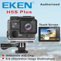 Eken h5s plus ultra hd ação câmera tela sensível ao toque ambarella a12 eis 4 k/30fps 720 p/200fps 30 m à prova dwaterproof água ir capacete pro esporte cam