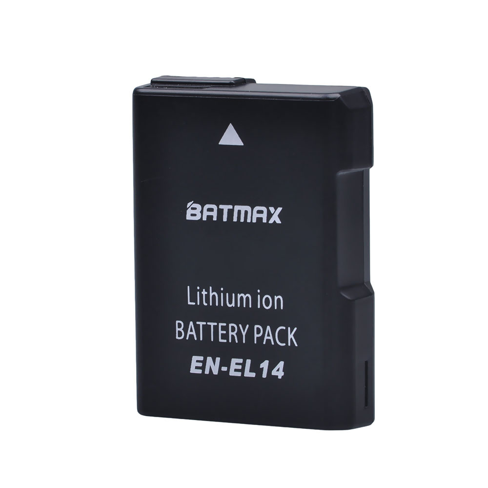 Batmax 1PC EN-EL14 EN-EL14A EL14 Camera Battery For Nikon D3100 D3200 D3300 D3400 D3500 D5600 D5100 D5200 P7000 P7800