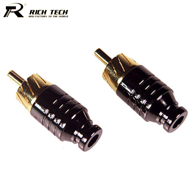 output jack wiring promotion shop for promotional output jack 10pcs gold plated rca male plug wire er connector speaker amplifier audio output input adapter plug earphone connector jack