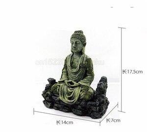 Image 3 - Cổ Đại Tượng Phật Nhựa Trang Trí Bể Cá Cho Cá Vật Trang Trí Trang Trí Landscap Trang Trí