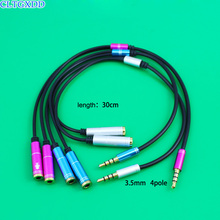 1 in 2 Couples Share Music Headphone Extension Cable Jack 3.5mm Male to Female A