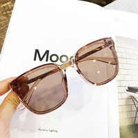 Ms 2018 nova mulher oversize óculos de sol do vintage marca de moda designer quadrado uv400 gafas sol eyewear