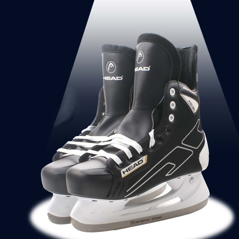 Winter Adult Teenagers Kids Professional PU Thermal Warm Thicken Ice Hockey Skates Shoes With Ice Blade