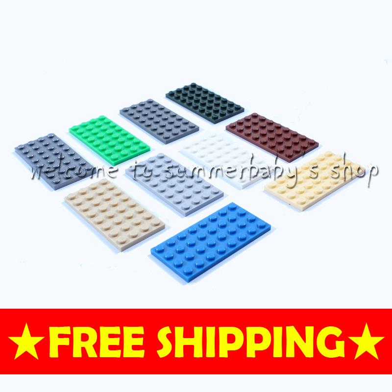 KAZI Toys plate brick 4*8 20P DIY kid woma diamond Building blocks enlighten playmobil ABS Compatible minecraft