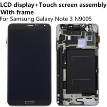LCD Display + Touch Screen Digitizer Panel Glass Lens Assembly with Frame For Samsung Galaxy Note 3 Note3 N9005 5.7″ Replacement