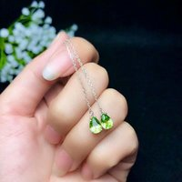 SHILOVEM 925 sterling silver PERIDOT stud earrings classic fine Jewelry women wedding plant GIFT wholesale new be050706agg