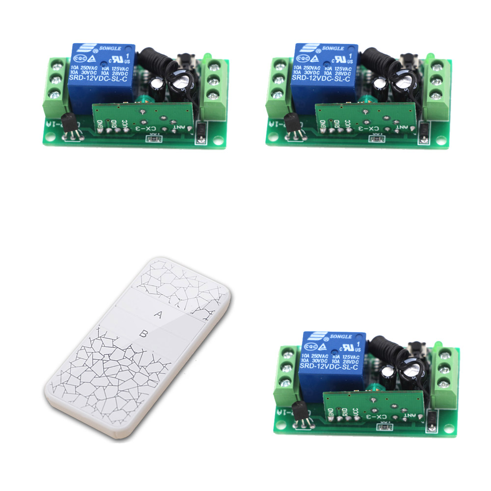 DC 9V RF Wireless Remote Control Switch DC 12V Remote Switch System DC 24V 1CH 10A Relay 3 Receivers & Transmitter Learning Code 2 receivers 60 buzzers wireless restaurant buzzer caller table call calling button waiter pager system