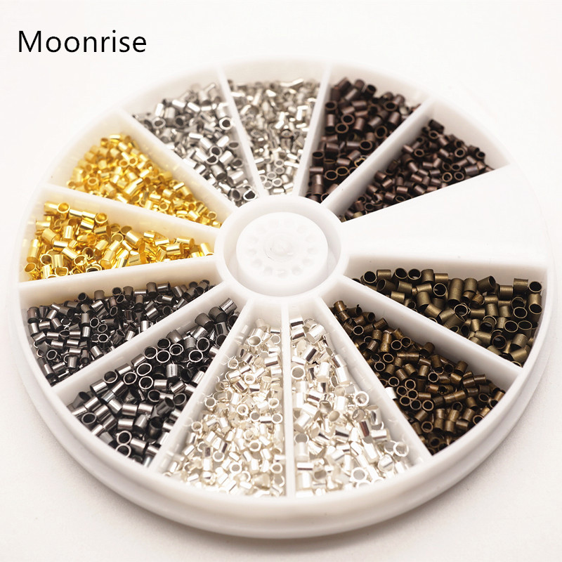 Moonrise 6 Colors 1.5mm Crimp Beads End Jewelry Findings