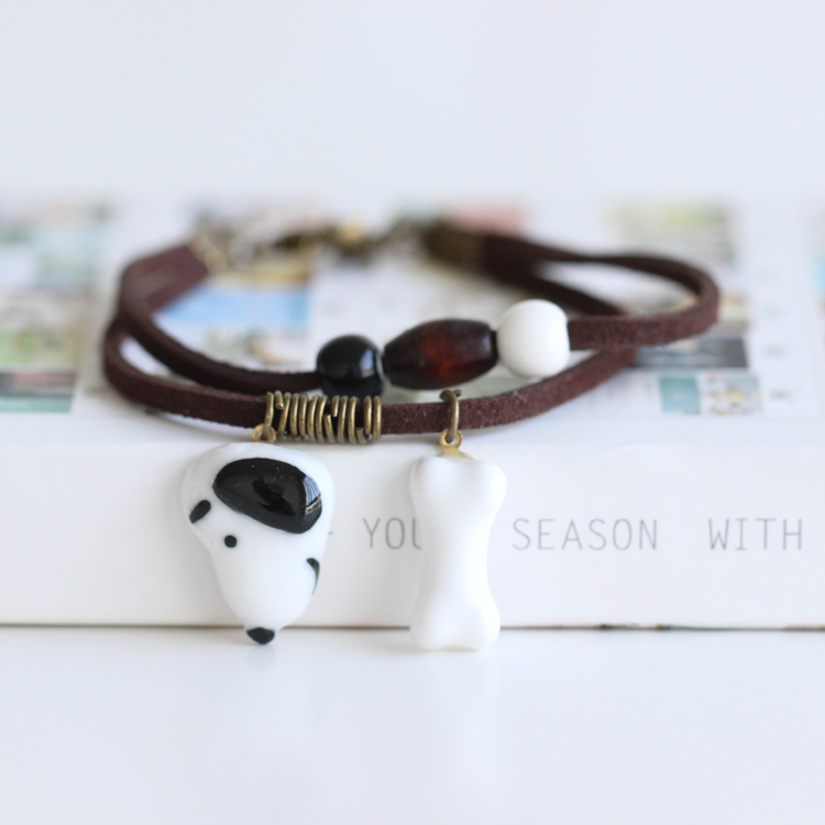 Realistisch Mode Terugkeer Naar De Ouden Handgemaakte Keramische Kralen Charme Gift Vrouwen Armband Mode-sieraden Gratis Verzending #1298
