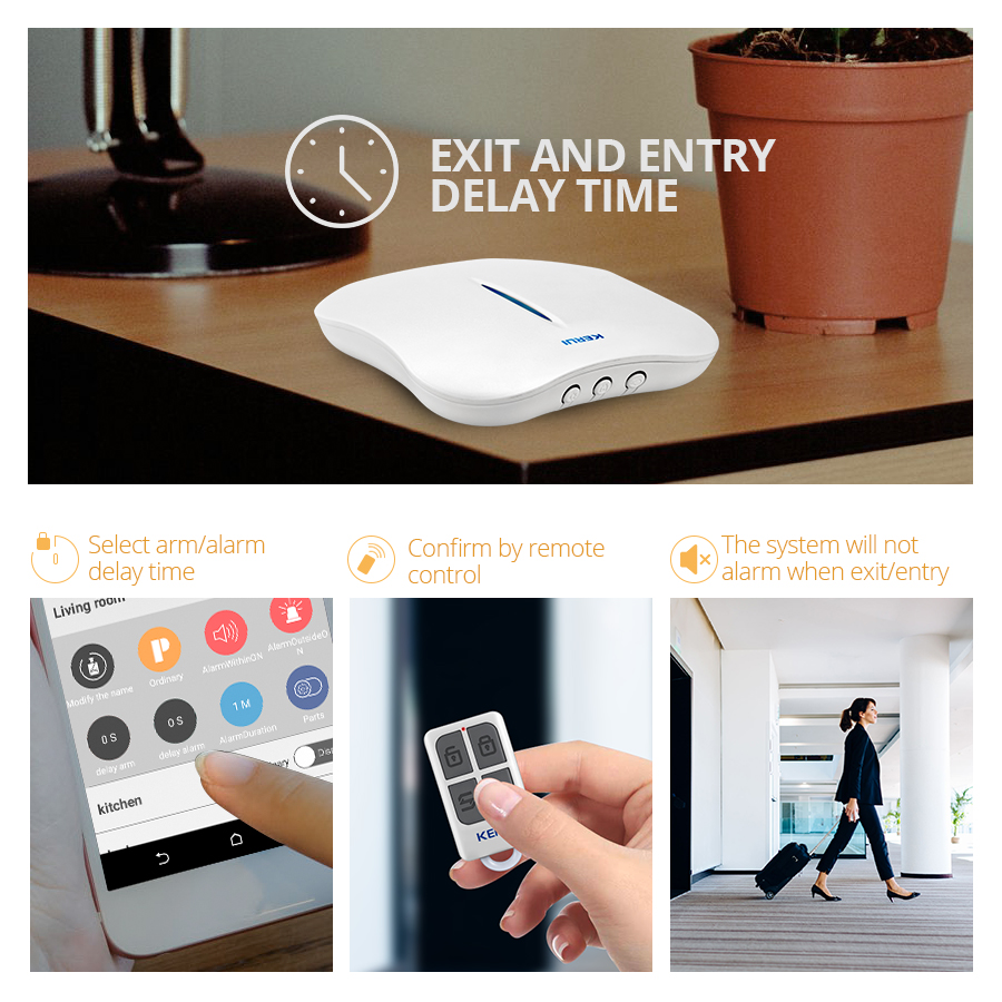 KERUI W1 WIFI Home Burglar Alarm Systems PSTN alarm systems security home Motion Sensor Detector With  keyboard RFID cards