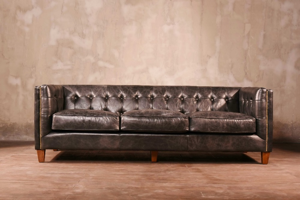 Exceptionnel GENIUE LEATHER SOFA 2 SEAT AND 3 SEAT LOFT STYLE AMERICAN CLASSIC  In  Living Room Sofas From Furniture On Aliexpress.com | Alibaba Group