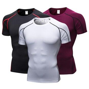 Nueva camiseta de secado rápido para correr Fitness camisetas ajustadas DE  FÚTBOL Camisetas de compresión Camiseta deportiva para hombre Crossfit  gimnasio ... 8edd876b68cb