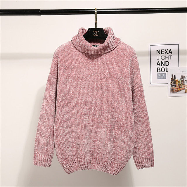 Turtleneck Long Sleeve Casual Sweater 4