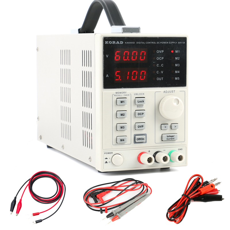 KORAD KA6005D Digital Regulated Programmable Precision Variable Adjustable Linear Switch DC Power Supply 60V 5A 0.01V 0.001A rps6005c 2 dc power supply 4 digital display high precision dc voltage supply 60v 5a linear power supply maintenance