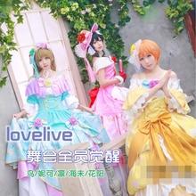 Аниме карнавальный костюм Lovelive бальное платье Awaken Eli Ayase Nico Yazawa Umi Sonoda Kotori Minami Rin Hoshizora платье полный комплект Z