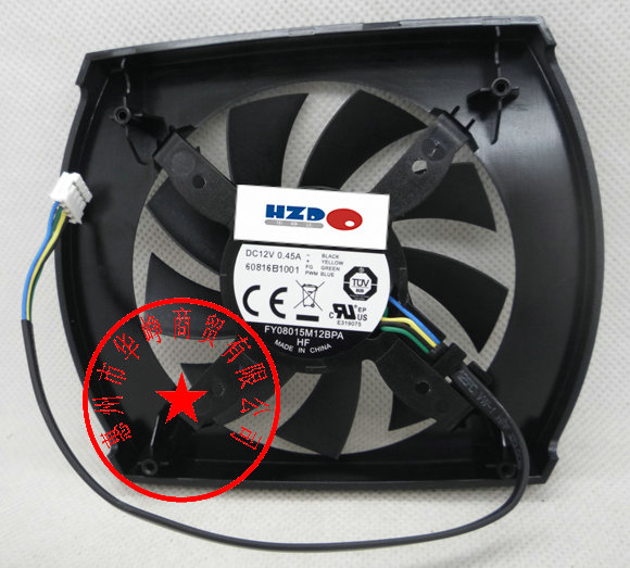 New Original FY08015M12BPA FY08015M12LPA 12v 0.45a PNY GTX650 <font><b>GTX650Ti</b></font> graphics card cooling fan HZDO image