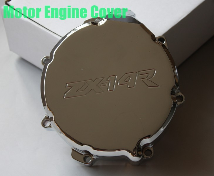 Aftermarket free shipping motorcycle accessories Engine Stator cover for Yamaha ZX 14R ZX14R ZZR1400 2006-2013 CHROME left side engine cover set with chrome plated pull starter cylinder cover side cover screws free shipping 85108