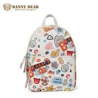 DANNY BEAR 2017 Women Vintage Leather Backpack Cheap Waterproof School Backpacks For Teenagers Brand Travel Bag Mochila Escolar