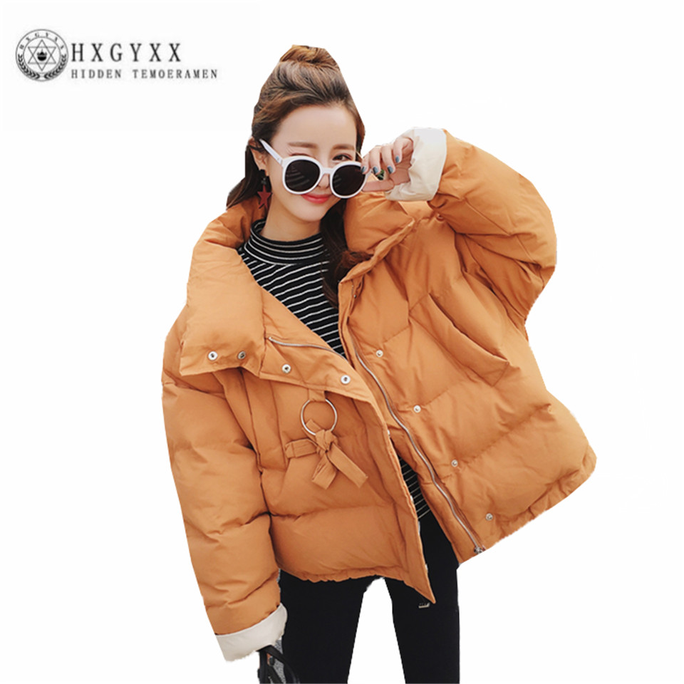 Thicken Winter Short Down Cotton Coat Long sleeve zippers Women cape Outerwear  Fashion collar pure color New Jacket ZX0060 sweet vintage style purple winter cape for women mandarin collar wool cape