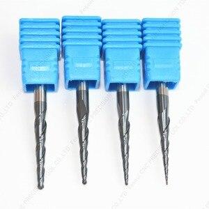 Image 5 - 3.175mm shank 1PCS, CNC węglika wolframu tialn stożkowe ball nose frez trzpieniowy, router do obróbki drewna bit, kulisty stożek frez