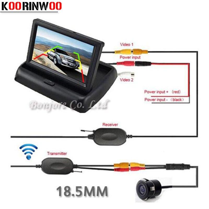 6a5adad2ffd Koorinwoo 2018 Universal 4.3 TFT LCD Monitor Digital Vehicle System Parking  Assistance Car arview camera Reverse
