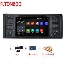Android 9 per bmw X5, M5, E53 piatto dvd dell'automobile, navigazione gps, wifi, radio, BT, volante Canbus Libero 8g mappa, mic, touch screen