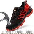 Stalen Neus Werkschoenen Laarzen Lichtgewicht Werk Veiligheid Laarzen Anti-smashing Leger Laarzen Mannen Sneakers Onverwoestbaar Schoenen